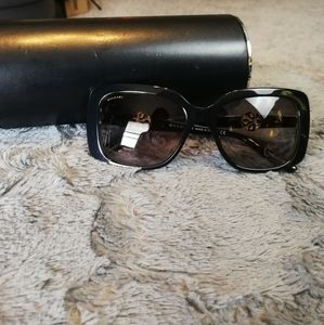 New Black Bvlgari Intarsio Sunglasses